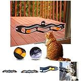 CricTeQleap Katze Teaser Spielzeug, lustige Kunststoff Track Ping Pong Ball Sucker Haustier K?tzchen Katze Spielzeug interaktives Geschenk - zuf?llige Farbe