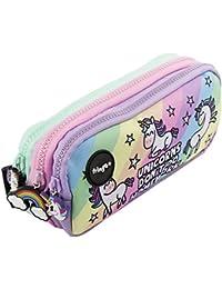 Fringoo® 3Compartiment Trousse pour enfant école papeterie support Funny Cute Large Unicorns & Homework - 3 Compartments
