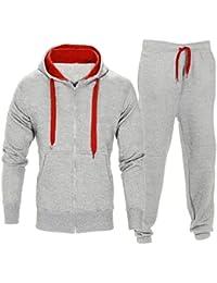 OHQ Pantalon à Capuche Slim Sweat pour Hommes Pantalons Chemise Extensibles  Manteau Veste Jogging Sports Survêtement 7012e02586cc
