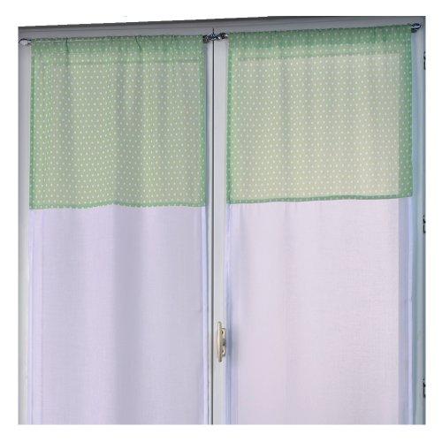home-maison-hm692300011-vitrage-droit-a-la-paire-etamine-parement-imprime-pois-betty-blanc-vert-60-x