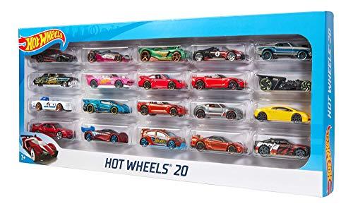 Hot Wheels H7045 - 1:64 Die-Cast Fahrzeuge, mittelgroßes Auto Geschenkset, je 20 -