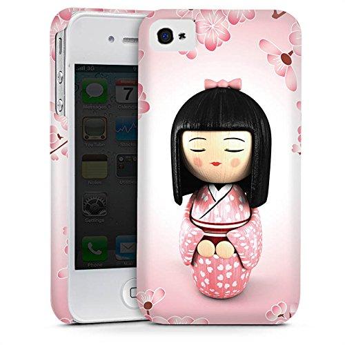 Apple iPhone 5 Housse étui coque protection Sakura Kokeshi Poupée Asie Cas Premium mat