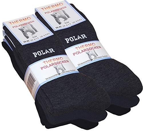 6 Paar THERMO-POLAR Socken, Vollfrottee Arktis Socken von VCA, Gr.-39/42