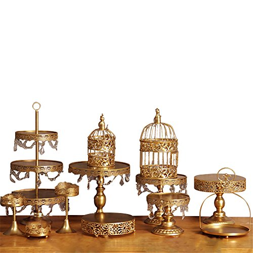 Blue Vessel 12PCS Gold Wedding Dessert Tray Cake Stand Cupcake Pan Party Supply Set Cupcake-tier Tray