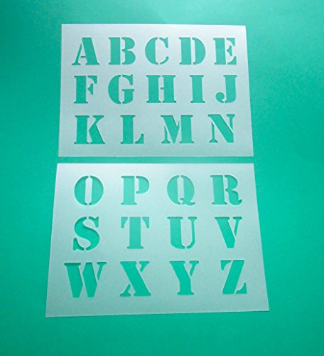 Alphabet - große Druck Buchstaben 5cm hoch 2 Schablonen (Schablone Buchstaben)