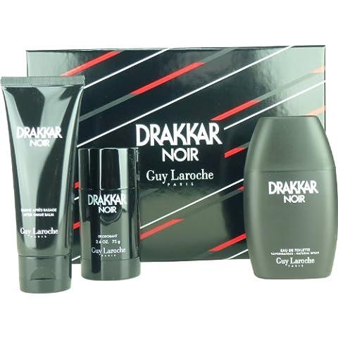 Guy Laroche Drakkar Noir SET 100ml EDT Spray + Deo-Stick + 100ml ASB
