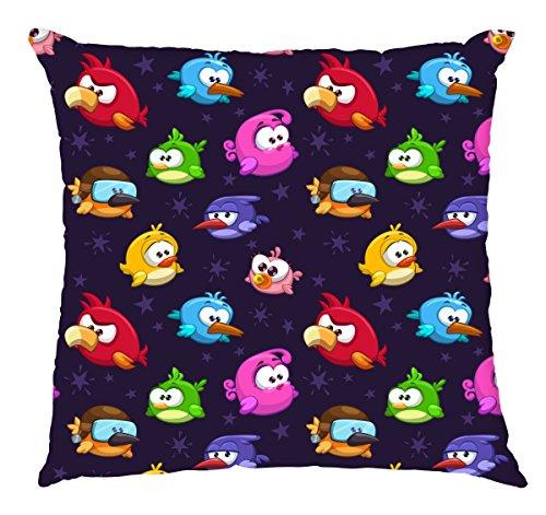 Gedruckt 40x40 cm dekorativ Polyester Kissen (432 - angry birds 2) (Angry Bird Kissen)