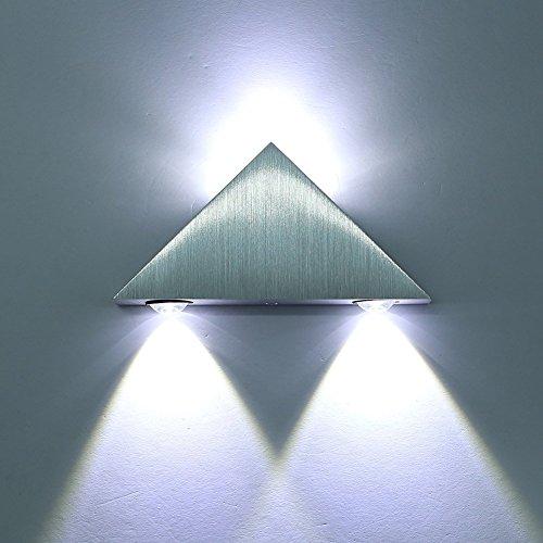 Lightess Wandleuchte 3W kalt weiß LED Modern Flurlampe Wandbeleuchtung Nachtlicht Lampe
