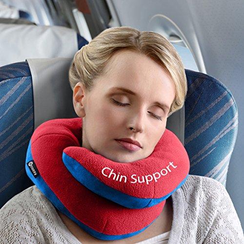 Oreiller de voyage BCOZZY avec support pour le menton – soutien la tête, le cou et le menton pour un maximum de confort en position assise, élu meille...