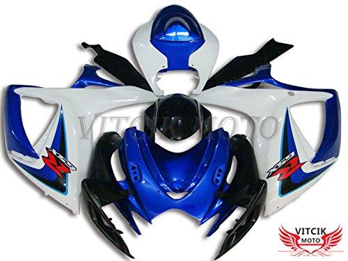VITCIK (Kit Carenatura Compatibile con Suzuki GSXR600-750 K6 06 07 GSXR 600 750 K6 2006 (Suzuki Gsxr600 Telaio)