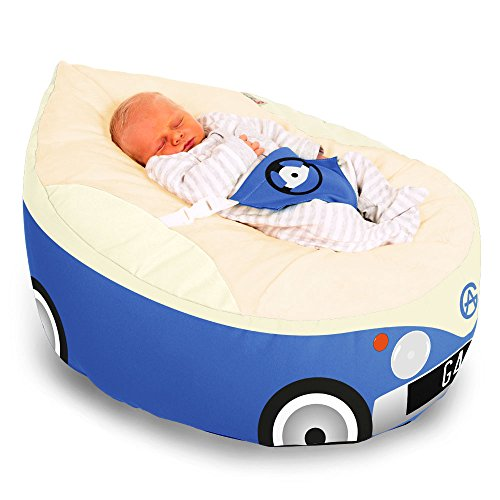 rucomfy Sitzsack Luxury Cuddle Soft Campervan Gaga Baby Sitzsack (Royal Blau)