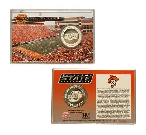 Oklahoma State Cowboys Silver Coin Card - Stadium