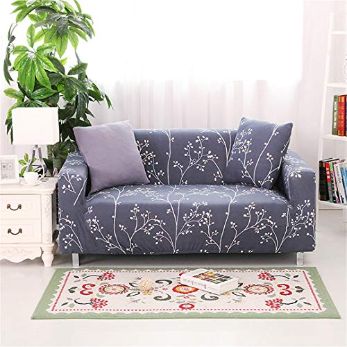 SHFOLSFH 1/2/3/4 Seater Flexible Printing Sofa Cover Elastic Stretch Couch Cover Love-Seat Sofa Cover Home Decoration Cushion Pillow Case B6114 3 seat 185-230cm (Sofa Love Seat Cover Rot)