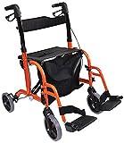 Aidapt Rollator, Dual Funktion,/Transit Stuhl kombiniert, orange