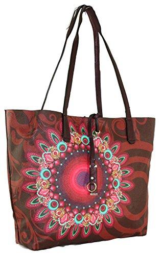 7358fae10724b ... 3- teilige Damen Handtasche + Clutch + Geldbörse Damentasche Tasche  Shopper Patchwork ...