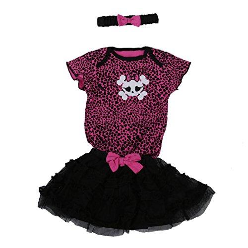 erster Blick Luxusmode Top-Mode Baby T-Shirt Langarm Totenkopf Blumen Skull Flowers Bunt ...