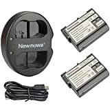 Newmowa Double USB Chargeur + 2 Batteries EN-EL15 pour Nikon EN-EL15 et Nikon 1 V1, D600, D610, D800, D800E, D810, D7000, D7100