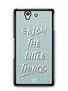 YuBingo Enjoy The Little Things Designer Mobile Case Back Cover for Sony Xperia Z