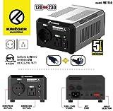 KRIEGER 150 Watt Spannungswandler 110/120V - 220/230V mit CE/UL/CSA Zulassung