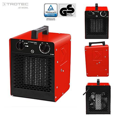 TROTEC Keramik Heizlüfter Elektroheizer TDS 20 C inkl. Mehrstufen-Temperaturregelung bis 3.000 Watt...