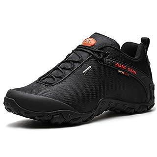 Herren Outdoor wasserabweisende Trekking Schuhe Wanderschuhe atmungsaktiv bequem 81283 Schwarz 45