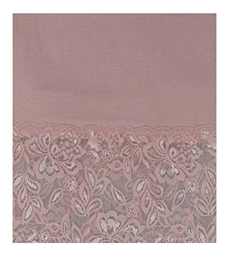 S&LU Elegantes langes Spitzen-Top in wunderschönen Farben Gr. 34-38 und Gr. 40-44 Rose