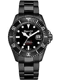 "Gigandet Herren Automatik-Armbanduhr""Sea Ground"" Analog Edelstahlarmband Schwarz G2-003"