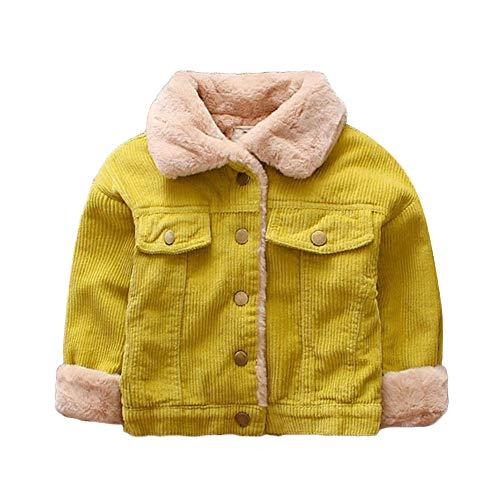Vovotrade☃ autunno e inverno più velluto abbigliamento per bambini, ragazze ragazzi inverno cappotto di colore solido mantello fodera in cotone cappotto di spessore caldo cappotto