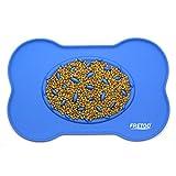 Tapetes para comer - con el tazón de fuente de la alimentación lenta - para el alimento del perro y del gato y el riego - bandeja impermeable del piso del silicón para el pequeño animal grande medio