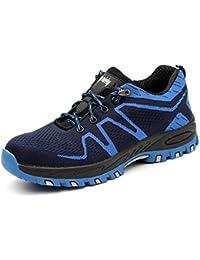 Zapatos de Seguridad para Hombre Comodas S3 Zapatos de Trabajo con Puntera de Acero con Suela Antideslizante 36-46