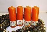 4 Stück YUL Stumpenkerzen 200/67 Terracotta (Orange), Ideal für den Adventskranz, Weihnachtsgesteck, Weihnachtsdeko, Weihnachtskerzen