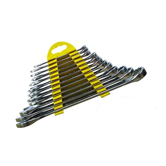 Billionbag 12Pcs Multi-Function Universal One Side Open Ended Sided Combination Spanner Wrench Set
