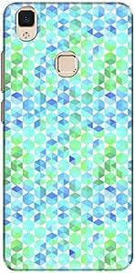 The Racoon Grip printed designer hard back mobile phone case cover for Vivo V3. (Cyan Retro)