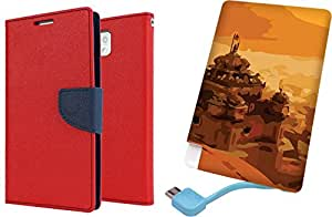 APE Wallet Cover and Printed Power Bank for Samsung Galaxy Galaxy Note-3 N9000