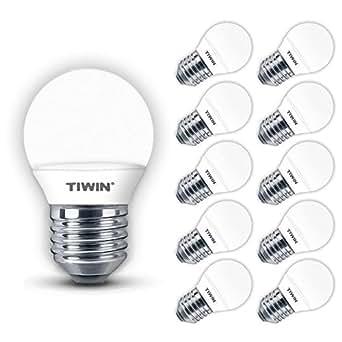10x TIWIN® E27 Ampoule LED Lampe Bulb SMD Lumière Blanc froid 3W /A+ /=25W /250 LM /5700K /SMD 2835 /220 degrés
