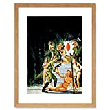 EXECUTION SCENE SOLDIERS WOMEN BEHEADING SURREAL FANTASY FRAMED PRINT B12X7327