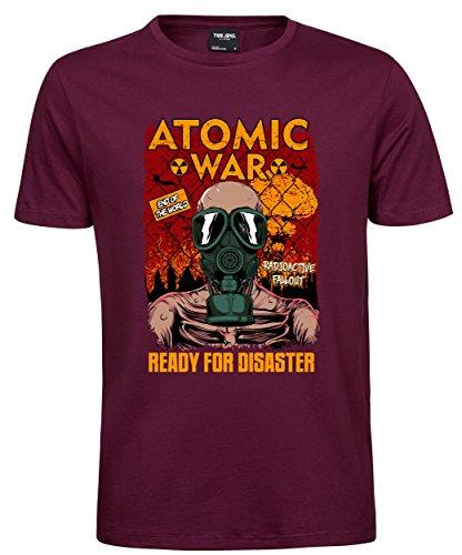 makato Herren T-Shirt Luxury Tee Atomic War Wine