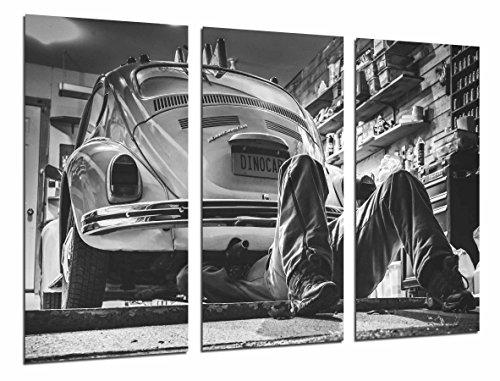 Cuadro Moderno Fotografico Coche Vintage, Escarabajo Blanco y Negro, 97 x 62 cm, Ref. 26595