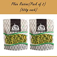 Wonderland Foods Premium Plain Raisins Kishmish, 1kg (Pack of 2 500g Each)