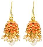 Rajasthani Traditions Orange Stone Embel...