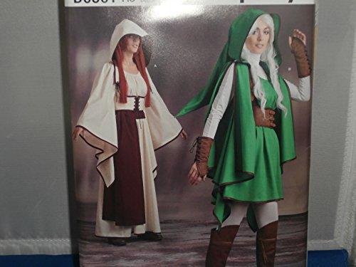 Zelda Kostüm Muster - Simplicity Schnittmuster D0501Erwachsene Frau Kostüme Zelda 14-22
