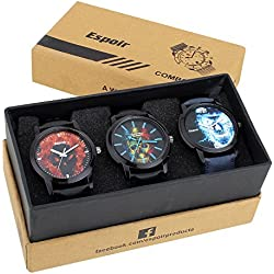 Espoir Ghost Collection Combo of 3 Multicolor Dial Mens Combo Watches - Ghost Combo0507