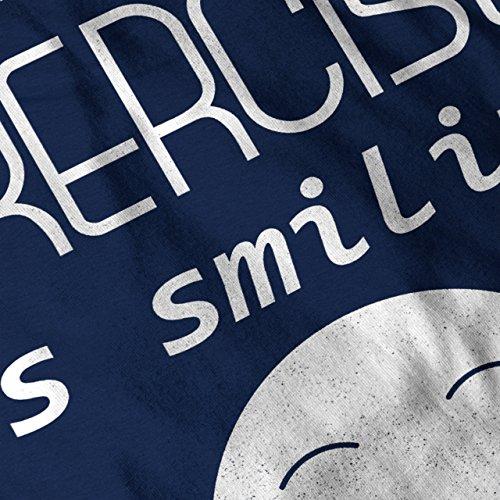 Lächelnd Positiv Komisch Lächelnd Damen Schwarz S-2XL Muskelshirt | Wellcoda Marine