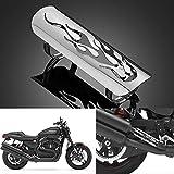 LEAGUE&CO Universal Auspuffrohr Hitzeschild Abdeckung Hitzeschutzblech Hitzeschutz für Harley-Davidson Honda Suzuki Yamaha usw. (04-Silber)