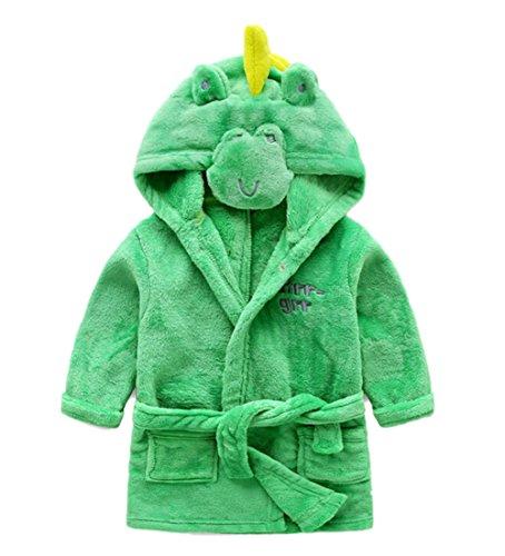 DAYAN Super doux Baby Girls & Boys Peignoir à capuchon pour animaux Robes Serviette de bain Pyjamas de nuit Peignoir Dinosaur Taille 110cm