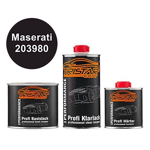 TRISTARcolor Autolack Set Dose spritzfertig Maserati 203980 Blu Oceano Metallic Basislack + 2K Klarlack 1,25L