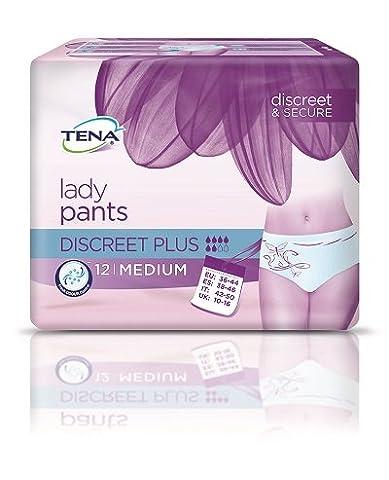 TENA Lady Pants Discreet Plus -Gr. Medium (36-44) - PZN 10186833 - (72 Stück).