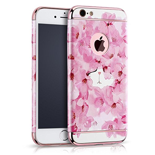 "Eleoption Apple iphone 6/6s Schutzhülle Kreativität handlich abziehbar case 3D Reliefmalerei Slim PC Hard Back Case Cover (iphone 6/6s 4,7"", Pfingstrosen) Blume"