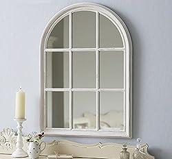 Live Laugh Love Large Arch Window - Antique White