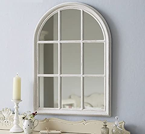 Large Arch Window - Antique White